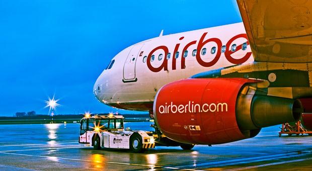 Ein Airbus A320 von Air Berlin.