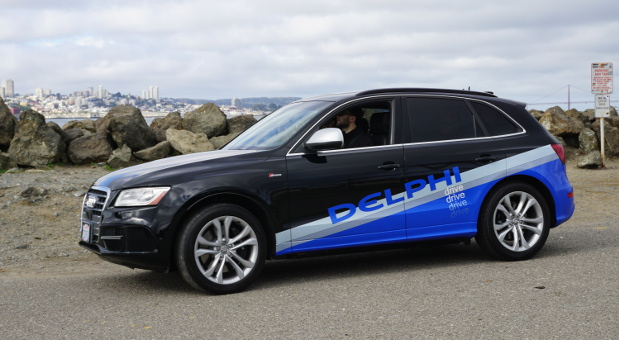 Der US-Zulieferer Delphi lässt ein selbstfahrendes Auto erstmals von Küste zu Küste durch die Vereinigten Staaten fahren. In einer Woche soll der Audi Q5 die Stecke von 5630 Kilometern nach New York zurücklegen.