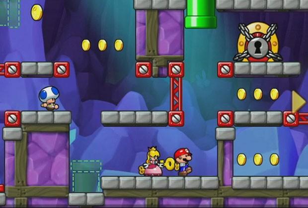"""Vielleicht auch bald auf dem Smartphone: Eine Szene aus """"Mario vs. Donkey Kong: Tipping Stars""""."""