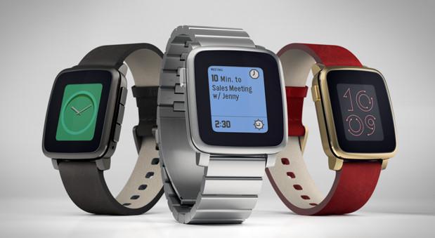 Die Smartwatch Pebble Time soll im Mai in drei Farben auf den Markt kommen.