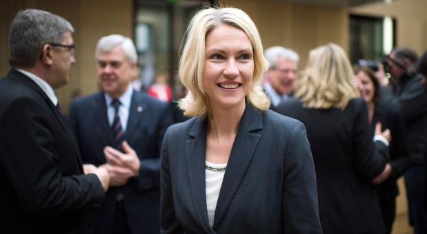 Die Bundesministerin für Familie, Senioren, Frauen und Jugend, Manuela Schwesig (SPD) vor der Bundesratssitzung im Bundesrat in Berlin.