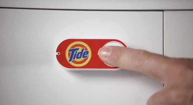Per Knopfdruck zum Waschmittel-Nachschub. Den Bestellknopf Amazon Dash sollen die Kunden genau dort anbringen, wo sie die Produkte verwenden.