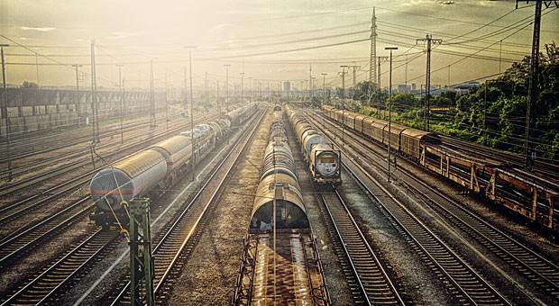 17 Prozent des Güterverkehrs werden in Deutschland über die Schiene transportiert.