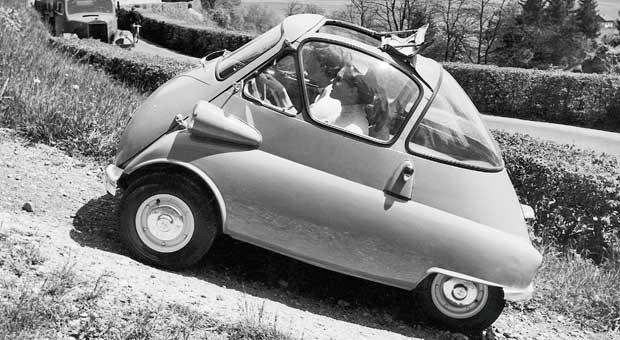 Feiert 60. Geburtstag: die BMW Isetta.