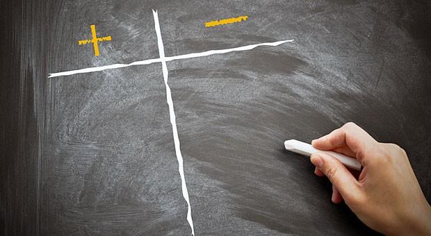 Eine Pro-Kontra-Liste kann helfen, Entscheidungen zu treffen.