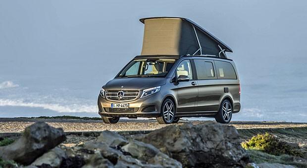 Es muss nicht immer gleich ein Wohnmobil sein: Mercedes-Campervan Marco Polo.