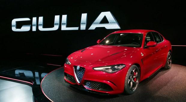 Der neue Alfa Romeo Giulia bei der Weltpremiere.