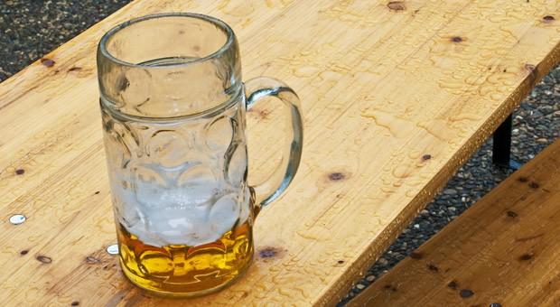 Bei Dauerregen bleibt der auch schönste Biergarten leer.
