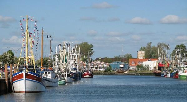 Der Hafen von Büsum: Von dort aus können die Touristen auch mit dem Schiff nach Helgoland fahren.