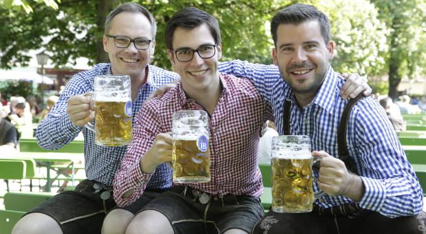 Die Gründer von Bits & Pretzels: Bernd Storm van's Gravesande (rechts), Andreas Bruckschlögl und Felix Haas (links). © Wilfried Feder