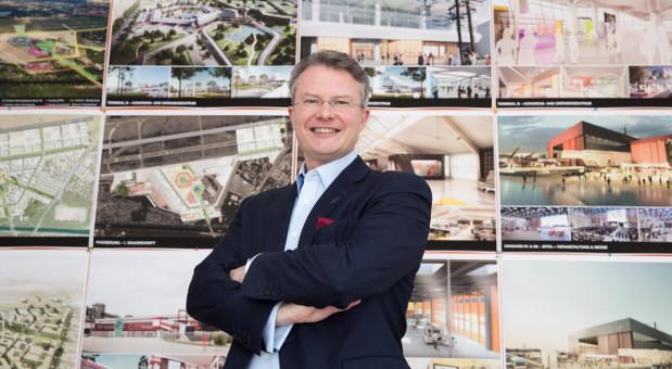 Große Pläne für den Flughafen Tegel hat Philipp Bouteiller, Geschäftsführer der Tegel Projekt GmbH.
