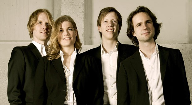 Die vier Gründer von Innosabi: Hans-Peter Heid, Catharina van Delden, Jan Fischer, Moritz Sebastian Wurfbaum (von links nach rechts).