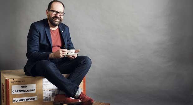 """Patrick Großmann hat zusammen mit seiner Frau Delia das Unternehmen """"Die Espressonisten"""" gegründet."""