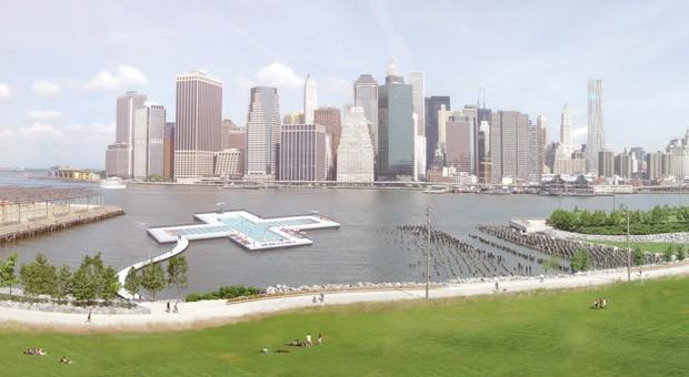 Eine der kuriosesten Crowdfunding-Projekte: Ein Swimming-Pool im Hudson River, der das Flusswasser zu Trinkwasser filtert.