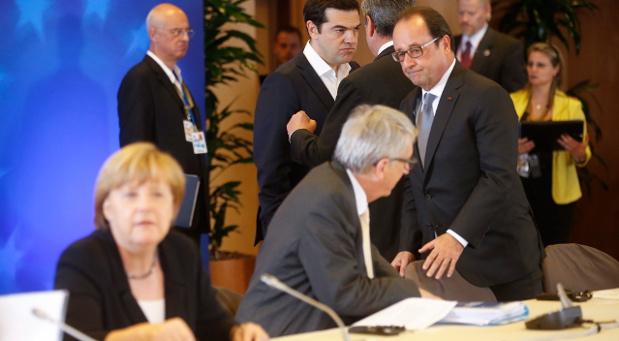 Griechenlands Premier Tsipras und Bundeskanzlerin Angela Merkel am Dienstag bei den Verhandlungen in Brüssel.