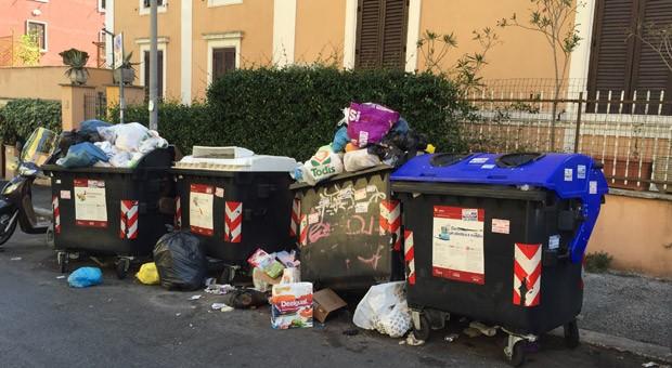 Müll stapelt sich neben den Tonnen. Die Müllabfuhr kommt mit dem Abtransport nicht hinterher.