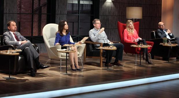 Die fünf Unternehmer und Investoren: Vural Öger, Judith Williams, Frank Thelen, Lencke Steiner und Jochen Schweizer (v.l.n.r.).
