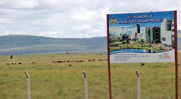 """Bauplatz in Kenia - hier entsteht eine hochtechnisierte Stadt. In Anlehnung an das Silicon Valley im US-Staat Kalifornien reden einige von einem """"Silicon Savannah""""."""