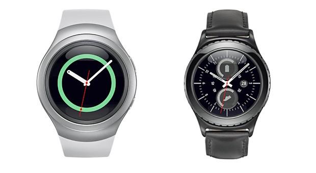 Samsungs neue Uhr Gear S2 gibt es als Classic- und als Sport-Variante.