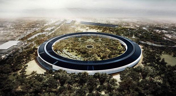 """So soll der """"AC2"""" nach seiner Fertigstellung im Jahr 2017 aussehen. Entworfen wurde das Gebäude von Stararchitekt Sir Norman Foster, der beispielsweise auch die begehbare Glaskuppel des Reichstagsgebäudes in Berlin gestaltete."""