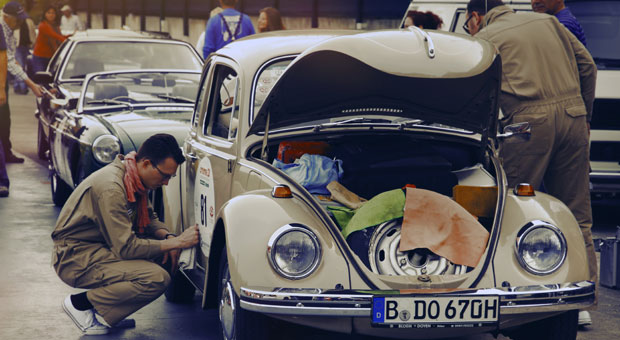 Ein Käfer geht immer: Bei der Creme 21 Youngtimer Rallye starten Autos, deren Baureihen zwischen 1970 und 1990 produziert wurden.