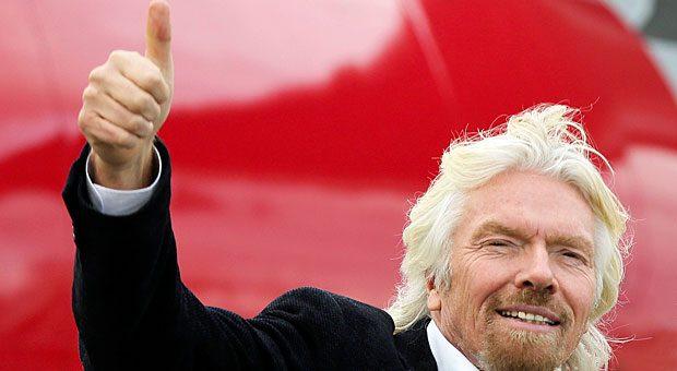 Auf der Erfolgsspur: Unternehmer und Selfmade-Milliardär Richard Branson hat für sich einen Weg gefunden, mit dem er seine Ziele erreicht.