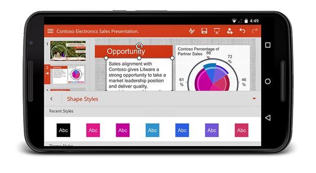Präsentationen auf dem Handy anschauen und bearbeiten ist heute kein Problem mehr: Moderne Büro-Software gibt es auch für mobile Endgeräte.
