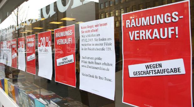 Räumungsverkauf - dazu waren in den vergangenen Jahren etliche Buchhandlungen gezwungen.