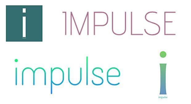 """Einige kostenlose Logos, die """"Mark Maker"""" für """"impulse"""" vorgeschlagen hat. Die Entwürfe lassen sich im Nachhinein beliebig anpassen."""