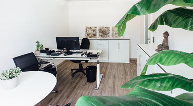 Ein seltener Anblick für Vanessa Weber: ihr aufgeräumtes Büro mit leerem Schreibtisch nach einem langen Urlaub.