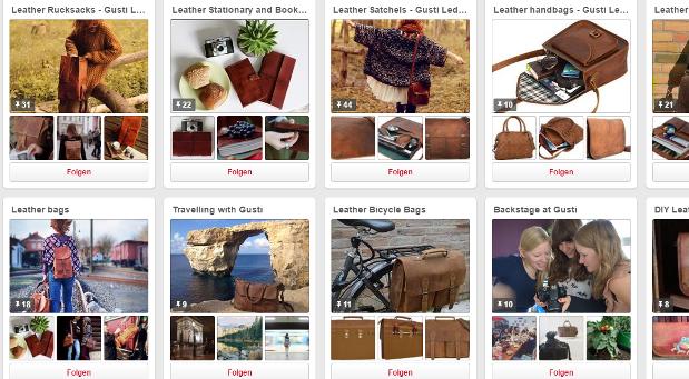 Schöne Bilder, viel Arbeit: Den Pinterest-Account betreibt Gusti-Leder seit 2015.