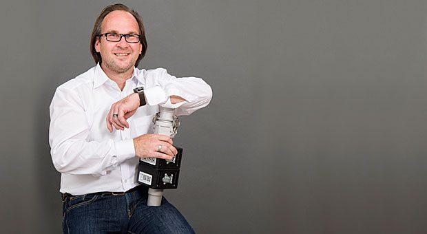 Axel Schirp, 47, war Vertriebschef eines Anlagentechnikers. Heute verkauft er heute einen selbst entwickelten Magnetabscheider.