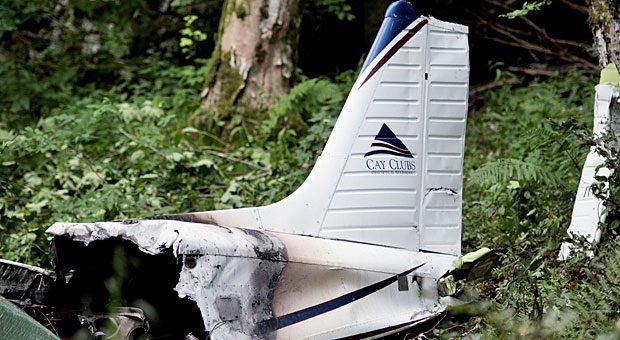 Trümmer der Maschine, in der Unister-Gründer Thomas Wagner ums Leben kam: War der Pilot so auf ein Ergebnis fixiert, dass er Gefahren ignorierte?