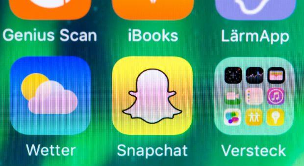 Der weiße Geist auf gelbem Hintergrund symbolisiert die Besonderheit der App Snapchat: Wie von Geisterhand verschwinden Bilder und Texte nach kurzer Zeit wieder.