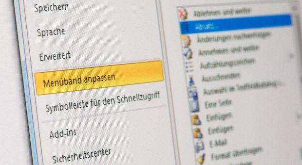 Wem die Symbolflächen von Microsoft Word zu vollgestopft mit Icons sind, kann sie in den Einstellungen an die eigenen Bedürfnisse anpassen.