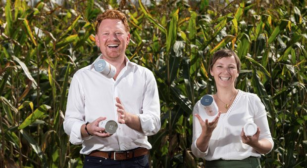 Holger und Melanie Brosig verkaufen getrocknetes Gemüse in Dosen. Im gleichen Monat der Gründung von Veggie Pur kam ihr Sohn zur Welt.
