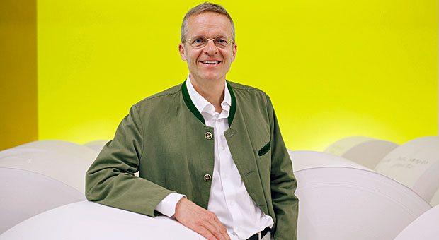 Florian Kohler, Inhaber der Büttenpaperfabrik Gmund