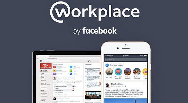 """""""workplace by facebook"""" nennt sich die neue Kommunikationsplattform für Unternehmen. Um den Dienst von dem privaten sozialen Netzwerk abzugrenzen, haben die Entwickler extra ein neues Design entwickelt."""