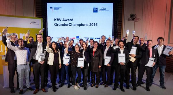 Ausgezeichnete Geschäftsideen: Die 16 KfW Gründerchampions 2016