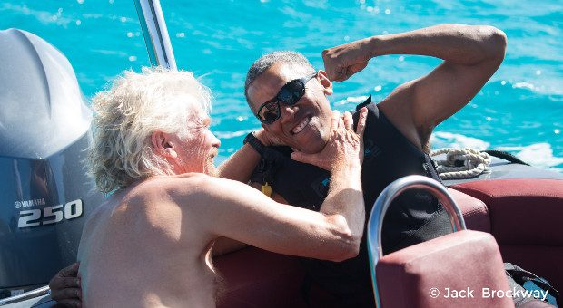 Virgin-Chef Richard Branson hat Ex-US-Präsident Barack Obama auf seine Privatinsel Moskito Island in der Karibik eingeladen.