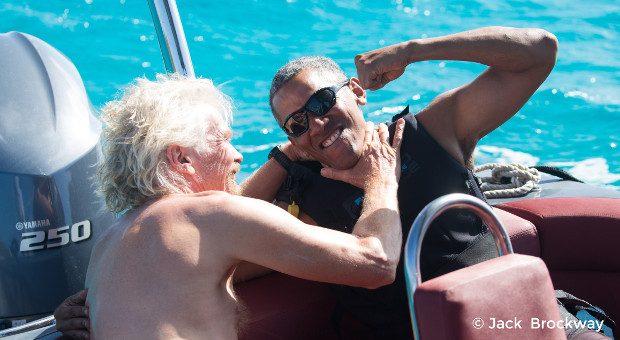 Virgin-Chef Richard Branson hat Ex-US-Präsident Barack Obama auf seine Privatinsel Moskito Island in der Karibik eingeladen.
