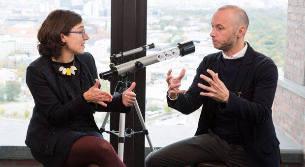 Zwei, die sich um einen lukrativen Markt streiten: Ruth-Anna Weißmann, Vorstand von Aktivoptik, und Mirko Caspar, Chef vom E-Commerce-Start-up Mr. Spex.