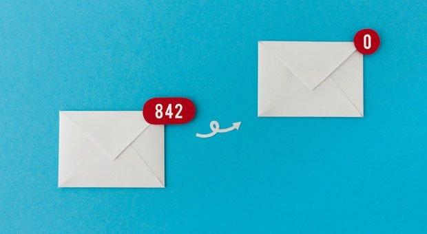 """Jeder mit vollem E-Mailpostfach wünscht sie sich: die """"Null"""" im Postfach."""