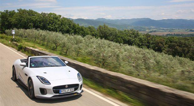 4,9 Sekunden dauert es, bis der Jaguar F-Type von 0 auf 100 km/h beschleunigt hat. Aber reicht das, um einen ICE zu schlagen?