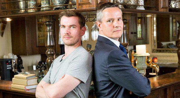 Wer hat die besseren Argumente? Alexander Birkhahn von der Anwaltssozietät Dornbach (re.) und Robin Friedlein von Legal Hero im impulse-Duell.
