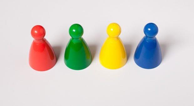 Alle Farben sind im Spiel: nach dem Modell der Teamrollen von Meredith Belbin sollten Teammitglieder möglichst unterschiedlich sein.