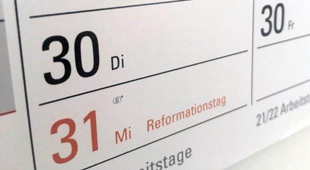 Am 31. Oktober ist Reformationstag - in neun Bundesländern ist er 2018 ein Feiertag.