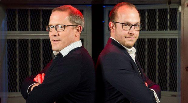 Wundertax- Co-Chef Steffen Harting (links) und Steuerberater Daniel Ritz (rechts) schenkten sich im Duell nichts, blieben aber stets fair und freundlich.