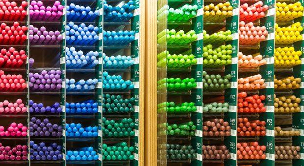 Buntestifte in allen erdenklichen Farben: Faber-Castell produziert jährlich rund 2,3 Milliarden Blei- und Farbstifte.