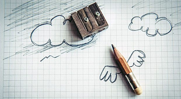 Kreativer Höhenflug durch Skizzen: Papier und Stift sind die wichtigsten Werkzeuge im Design Studio.